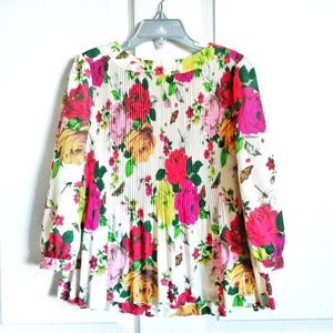 Baker By TED BAKER Floral Accordion Pleated Blouse
